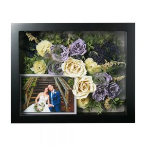 wedding flowers preserved roses in a shadowbox
